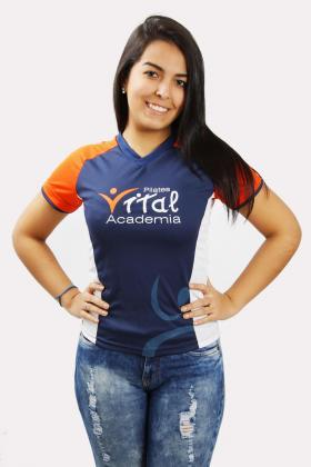 Camiseta Dry Fit com Recortes e Sobremanga